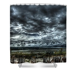 Threatening Sky Shower Curtain