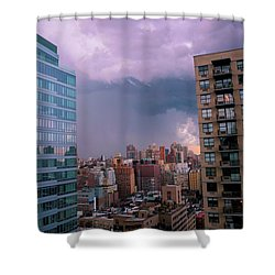 Shower Curtain featuring the photograph Threatening Storm - Manhattan - 2016 by Madeline Ellis