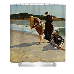 Three Bathers Shower Curtain