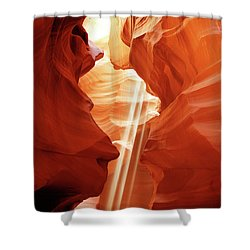 Shower Curtain featuring the photograph Three Beams by Norman Hall
