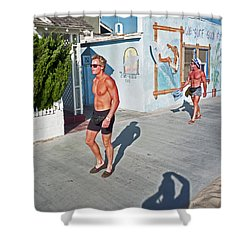Three Beefcakes Shower Curtain