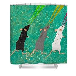Three Blind Mice Shower Curtain