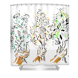 Three Bouquets Shower Curtain