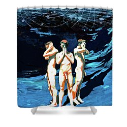 Three Boys, Hear No Evil, Speak No Evil, See No Evil Shower Curtain