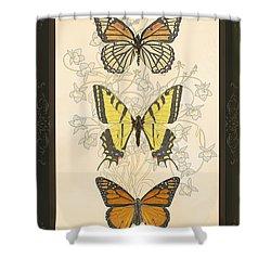 Three Butterflies Shower Curtain