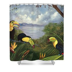 Three Cans Shower Curtain
