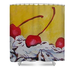 Three Cherries Shower Curtain