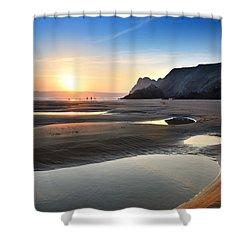 Three Cliffs Bay 2 Shower Curtain