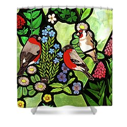 Shower Curtain featuring the photograph Three Company by Munir Alawi