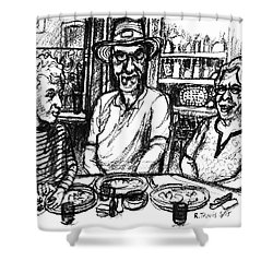 Three Diners Shower Curtain