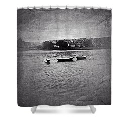 Three Dories Shower Curtain by Ann Tracy