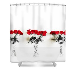 Three Dozen Roses Shower Curtain by Scott Pellegrin