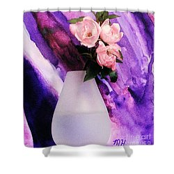 Three Feminine Roses Shower Curtain