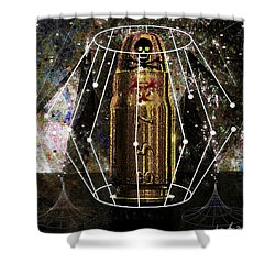 Three Fifty Seven Sig Shower Curtain by Iowan Stone-Flowers