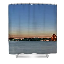 Three Forths At Dusk Shower Curtain