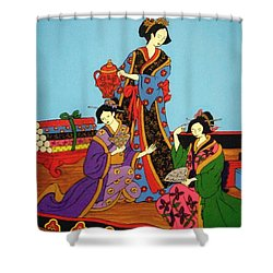 Three Geishas Shower Curtain