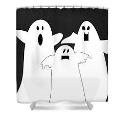 Three Ghosts Shower Curtain