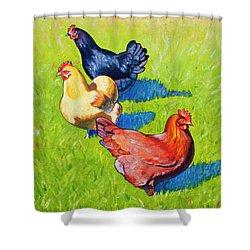 Three Girls Shower Curtain