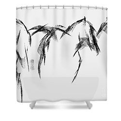 Shower Curtain featuring the painting Three Horse Sketch by Frances Marino