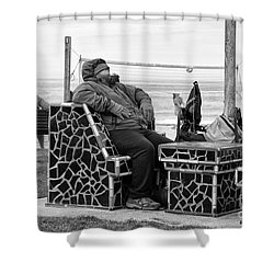 Three Laguna Lifestyles Shower Curtain