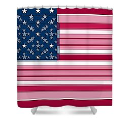 Three Layered Flag Shower Curtain