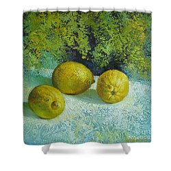 Three Lemons Shower Curtain