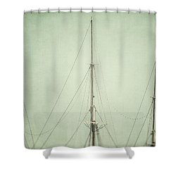 Three Masts Shower Curtain by Lisa Russo