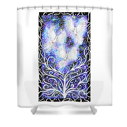 Three Messengers Shower Curtain