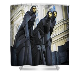 Three Muses - Calliope Thalia And Melpomene Shower Curtain