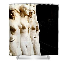 Three Muses Shower Curtain