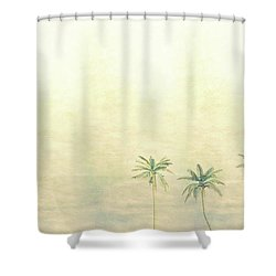 Three Palms In Color Shower Curtain