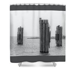 Three Pillars Shower Curtain