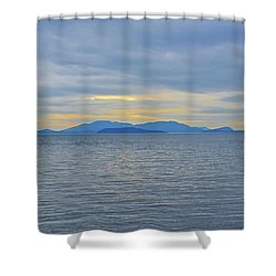Three Realms/dusk Shower Curtain by Tobeimean Peter