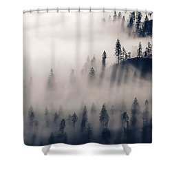 Three Ridges Fog Shower Curtain