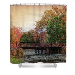 Three Rivers Michigan Shower Curtain