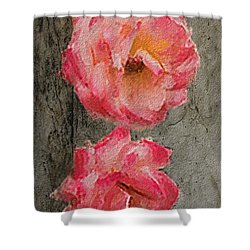 Three Roses Shower Curtain by Dale Stillman