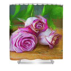 Three Roses Shower Curtain