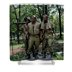 Three Servicemen Shower Curtain