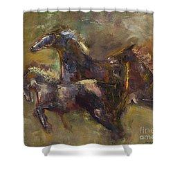 Three Set Free Shower Curtain by Frances Marino