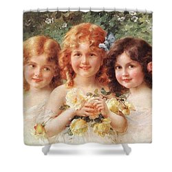 Three Sisters Shower Curtain by Emile Vernon