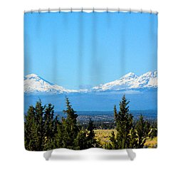 Three Sisters In The Fall Shower Curtain