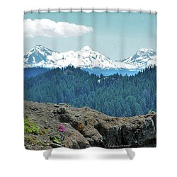 Three Sisters Shower Curtain by Michele Penner