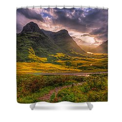 Three Sisters Of Glencoe Shower Curtain by Paul and Fe Photography Messenger