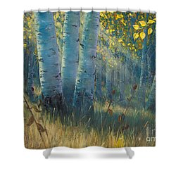 Three Sisters - Spirit Of The Forest Shower Curtain by Rob Corsetti