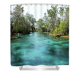 Three Sisters Springs Long View Shower Curtain