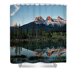 Three Sisters Sunrise Shower Curtain