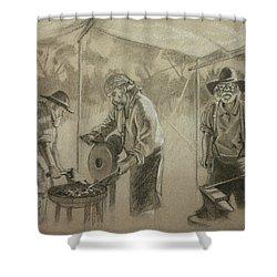 Three Smiths Shower Curtain