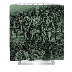 Shower Curtain featuring the photograph Three Soldiers Memorial by David Morefield