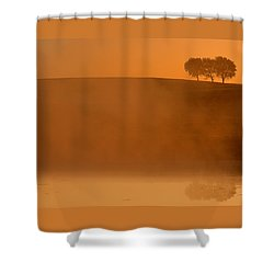 Three Trees  Shower Curtain by Don Spenner