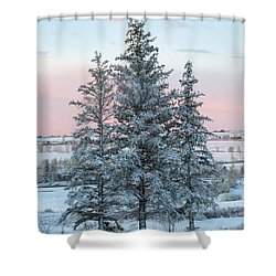 Three Trees Shower Curtain